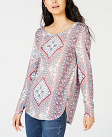 Lucky Brand Tapestry-Print Tunic Top