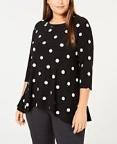 164a2e6d087822 Plus Size Tops - Womens Plus Size Blouses & Shirts - Macy's