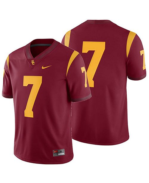 check out e4eb1 3b331 Men's USC Trojans Football Replica Game Jersey