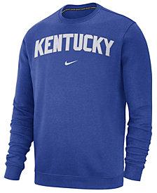 Nike Men's Kentucky Wildcats Cotton Club Crew Neck Sweatshirt