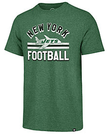 '47 Brand Men's New York Jets Team Stripe Match Tri-Blend T-Shirt