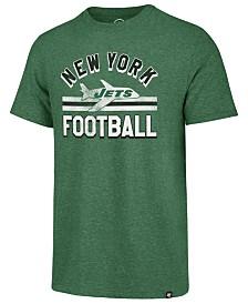 '47 Brand Men's New York Jets Team Stripe Match Tri-Blend T-Shirt