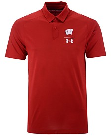 Under Armour Men's Wisconsin Badgers Pinnacle Polo