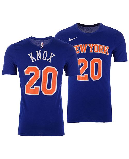 size 40 107e9 0d67d Men's Kevin Knox New York Knicks Icon Player T-Shirt
