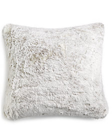 "Hotel Collection Faux-Fur 20"" Square Decorative Pillow, Created for Macy's"