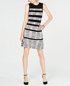 MICHAEL Michael Kors Snake-Embossed Panelled Shift Dress