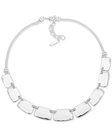 "Nine West Textured Block Collar Necklace, 16"" + 2"" extender"