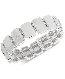 Nine West Tri-Tone Pavé Stretch Bracelet