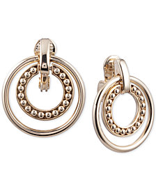 Lauren Ralph Lauren Gold-Tone Door Knocker Clip-on Drop Earrings