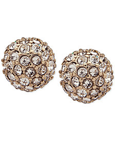 Lauren Ralph Lauren Gold-Tone Pavé Fireball Stud Earrings