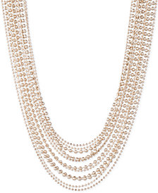 "Lauren Ralph Lauren Gold-Tone Beaded Multi-Layer 17"" Collar Necklace"