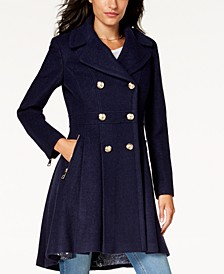 Double-Breasted Skirted Coat