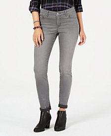 Style & Co Tummy-Panel Cuffed Skinny Jeans, Created for Macy's