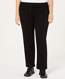 Calvin Klein Performance Plus Size Slim Fleece Pants