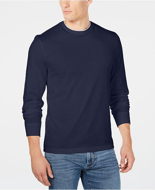 Club Room Men's Doubler Crewneck T-Shirt, Created for Macy's