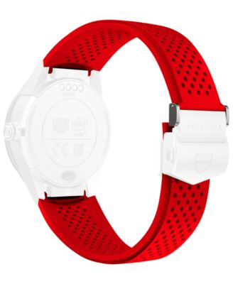 Modular Connected 2.0 Red Perforated Rubber Smart Watch Strap 1FT6080