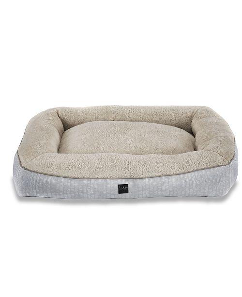 Home Dynamix Nicole Miller Comfy Pooch Dog Bolster Bed Pillow Bottom