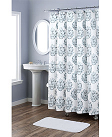 Nicole Miller Tabitha Printed Spring Shower Curtains