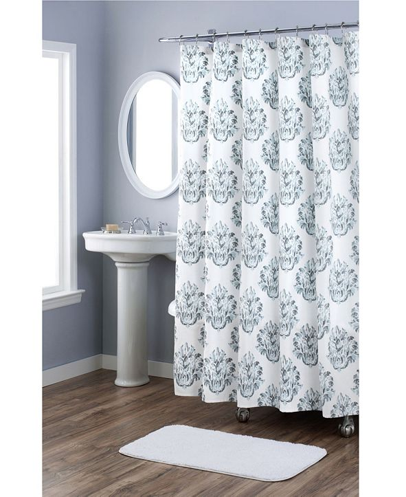 Nicole Miller Tabitha Printed Spring Cotton Shower Curtains
