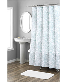Nicole Miller Melina Printed Spring Cotton Shower Curtain
