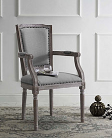 Penchant Vintage French Upholster Fabric Dining Armchair