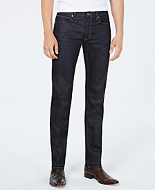 Men's Slim-Fit Dark Blue Jeans