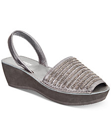 Kenneth Cole Reaction Women's Fine Stripe Wedge Sandals
