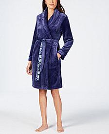 Sesoire Fleece Dotted-Trim Robe