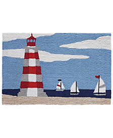 Liora Manne Front Porch Indoor/Outdoor Lighthouse Sky 2' x 3' Area Rug