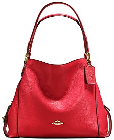 COACH Edie Shoulder Bag 31 in Polished Pebble Leather af0d905258a34