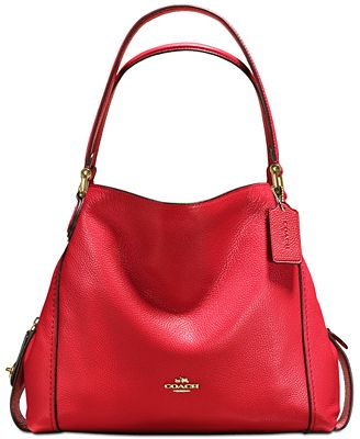 Coach Edie Shoulder Bag 31 In Polished Pebble Leather Handbags