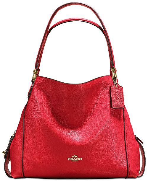 a7282f535af COACH Edie Shoulder Bag 31 in Polished Pebble Leather - Handbags ...