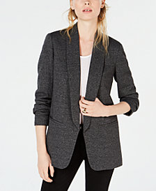 Bar III Shawl-Collar Kiss-Front Jacket, Created for Macy's