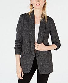 Bar III Shawl-Collar Kiss-Front Jacket, Created for Macy's
