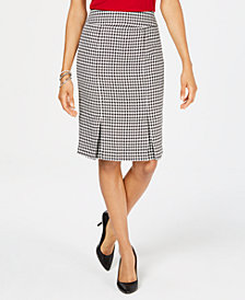 Kasper Inverted-Pleat Skirt