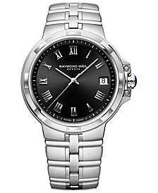 Men's Swiss Parsifal Stainless Steel Bracelet Watch 41mm