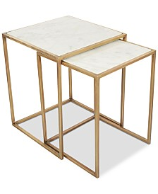 Isla Marble 2-Pc. Square Nesting End Table