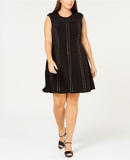 Calvin Klein Plus Size Studded A Line Dress Dresses Plus Sizes
