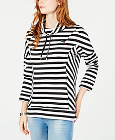 Tommy Hilfiger Striped Funnelneck Top, Created for Macy's