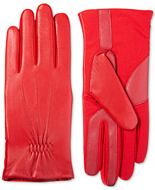 Isotoner Signature Women's Stretch & Leather Touchscreen Gloves