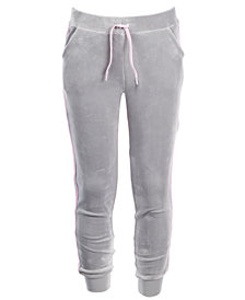 36aeb740436 Ideology Big Girls Plus Glitter-Stripe Velour Jogger Pants