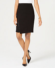Nine West Asymmetrical Crepe Skirt