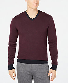 Ryan Seacrest Distinction™ Men's Mixed Yarn V-Neck Sweater, Created for Macy's
