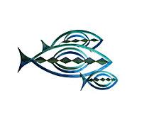 Artisan Blue Fins Wall Art, Quick Ship