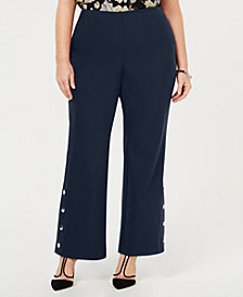 I.N.C. Plus Size Embellished Bootcut Pants, Created for Macy's