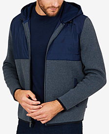 Nautica Men's Big & Tall  Colorblocked Zip-Front Hoodie