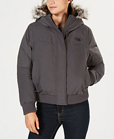 The North Face Nebula Bomber Faux-Fur-Trim Jacket