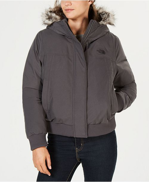781d7645956b The North Face Nebula Bomber Faux-Fur-Trim Jacket   Reviews ...