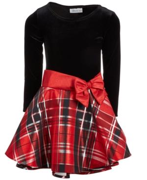 1920s Children Fashions: Girls, Boys, Baby Costumes Bonnie Jean Big Girls Velvet Taffeta Plaid Dress $33.99 AT vintagedancer.com