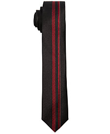 DKNY Big Boys Red Center Striped Necktie